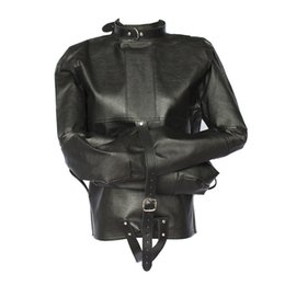 Discount Black Leather Straight Jacket | 2017 Black Leather ...