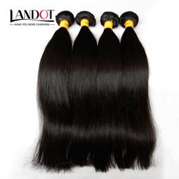 $enCountryForm.capitalKeyWord Canada - Malaysian Silky Straight Hair Unprocessed 8A Human Hair Weave 4 Bundles Lot Malaysian Straight Hair Extensions Natural Black Double Wefts