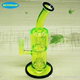 Fluorescent green oil rig online shopping - 10 quot Torus Fluorescent green glass bong Recycle glass bongs oil rigs glass bongs sturdy smoking water pipes joint size mm