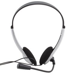 Headband Microphone Canada - 2016 High Quality Earphone Headphone w  Microphone MIC VOIP Headset Skype for PC Computer Laptop free shipping