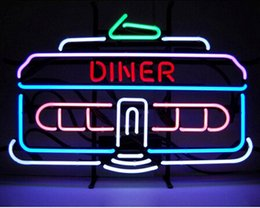 """$enCountryForm.capitalKeyWord Canada - Dinner Car Neon Sign Custom Handmade Real Glass Tube Store Food Dishes Take Out Advertisement Display Neon Signs 24""""X16"""""""