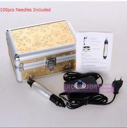 $enCountryForm.capitalKeyWord NZ - Newest Electric Derma Pen With 100pcs Free Needle Cartridges Microneedle Derma Roller 12pins Needles Dermapen Anti Wrinkle Skin Rejuvenation