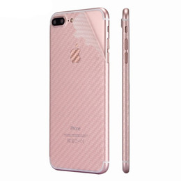 Chinese  For iPhone XS XR 8 Plus 3D Anti-fingerprint Cover Clear Carbon Fiber Back Screen Protector Film Wrap Skin Stickers For iphone 7 6s plus manufacturers