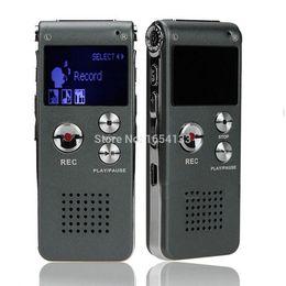 Mini Digital Audio Canada - Wholesale-8GB Mini USB Flash Digital Audio Voice Recorder 650Hr Dictaphone Sound MP3 Player 8 Gb Grey Pen Drive Grabadora Gravador de voz