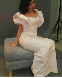 $enCountryForm.capitalKeyWord Australia - Ivory Lace Sheath Long Evening Gowns 2015 Vintage V Neckline Short Sleeve New Arrival Prom Dresses