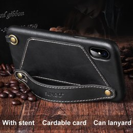 Original Iphone Cases Canada - 100% Original Genuine Leather Case for iPhone x fashion multi-function card holder Vintage Hard Shell Cover Mobile Phone Cases