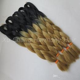 DreaDlocks weave hair online shopping - Kanekalon Jumbo Braiding Synthetic Hair inch Black F Ombre Two Tone Colored For Dreadlocks Crochet Box Braids Twist