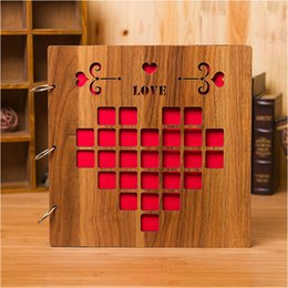 New Arrival Wedding Guest Book Wood Color Vintage Signature Album Souvenirs With Style A F