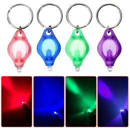 Wholesale Multicolor Mini Keychain Light Micro LED Flashlight White UV LED Torch Light Outdoor Camping Emergency Key Ring Lamp