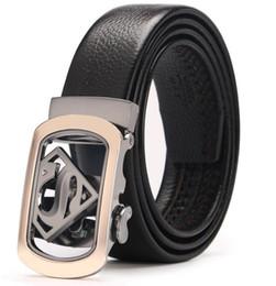 Discount standard car sales - New 4 s car sales 10 model High quality alloy agio Men's leather Automatic buckle belts Men belts
