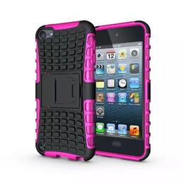 Toptan satış Ipod için Dokunmatik 6 6G 6th 5 5G 5th Touch6 Touch5 Sağlam Kickstand Örümcek Moda Sert Ağır Zırh TPU + Hard Case Darbeye Kare Cilt