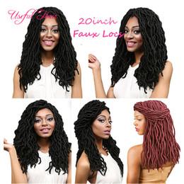 Braiding Soft Hair NZ - goddess deep wave blonde hair extensions 20INCH SOFT DREADLOCKS WAVING CURLY GODDESS LOCkS CROCHET BRAIDS hair synthetic braiding hair