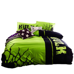 Hulk Bedding Set 100% Cotton Night Luminous Duvet Cover Sheet Designer  Bedding Sets High Quality Fabric New Arrival