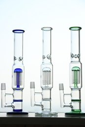 Bong Vases Canada - smoking Glass bongs Glass bong water pipe Vase Perc Water Percolator Smoking Pipe Two honeycomb Oil Rigs Glass bongs 29cm high-18.8mm Joint