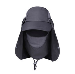 b68539050a6 Wholesale-New Arrival Men Women Sunshade UV Protection Sun Hat Fishing  Bucket Caps Hats For Outdoor Camping Hiking Wholesale