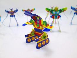 $enCountryForm.capitalKeyWord NZ - 6000Pcs lot 3CM*4CM Super MIni Card 3D Robot Puzzle For Children Gift Wholesale