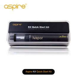 aspire kit NZ - 100% Original Aspire K2 Quick Starter Kit 1.8ml K2 Tank 800mah Rechargeable Battery Micro USB Charging Port 1.6ohm BVC Coil