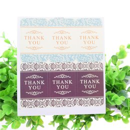 Thanks Stickers Canada - 100pcs Thanks You Seal Stickers Rabbit Bear Handmade DIY Seal Sticker Scrapbooking Envelopes packaging Label Cake Wrapping Baking Party