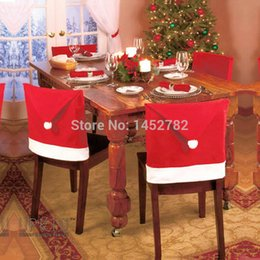Wholesale 1PC Christmas Dining Table Chair Sets Cover Hat Decorated Backrest Decoration