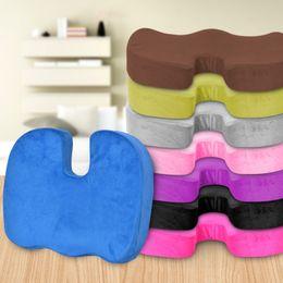 Superior Memory Cotton Cushion Office Chair Pad Car Seat Pillow Cushion Back Pain  Sciatica Relief Pillow Sofa Cushion Travel Sponge Cushions TY7 73
