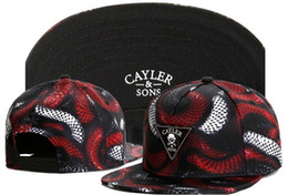 Triangle Table Canada - Wholesale-2015 Cayler Snake Snapback Hat Adjustable Sport Triangle Baseball Cap For Men Women Free Shipping
