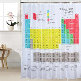 $enCountryForm.capitalKeyWord Canada - Creative Polyester Chemical Periodic Table Shower Curtains Waterproof Padded Shower Curtains Bathroom Shower Curtains 180cm x180cm