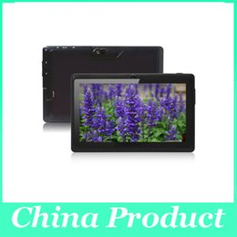 7inch tablet free shipping Canada - A33 tablet 7Inch Quad Core Q88 Q8 Tablet PC Android 4.4 Flashlight capacitive screen 512MB 8GB Wifi Free shipping 002609