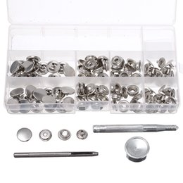 snap tools NZ - 120Pcs 15mm Heavy Duty Silver Snap Fastener Press Studs Button With Tool