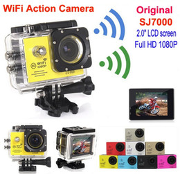Stabilizing camera online shopping - original SJ7000 WIFI Waterproof Sports Action Camera Video Full HD P Camcorder quot LCD Diving M sport Helmet Camera Car DVR