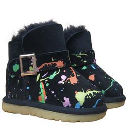 2017 NEUE Herbst und Winter Jungen und Mädchen Schuhe 100% glänzendes Fell ein Kind Schnee Stiefel Schneeschuhe rutschfeste Sehne am Ende der warmen verdickt