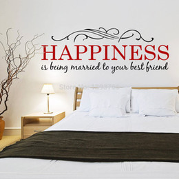 Discount Wall Sayings For Living Room High Quality Happiness DIY Removable  Wall Stickers Mural Kids Bedroom