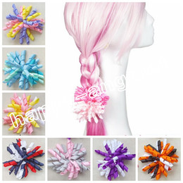 "hair corkers NZ - Girl 4"" korker Hair bows clips curly grosgrain ribbon ponytail Corker satin hairband flowers bobbles hair ties elastic headband 100pcs PD007"