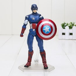 $enCountryForm.capitalKeyWord Canada - 16cm The Avengers Figma 226 superheroes Captain America PVC Action Figure Collectible Model Toy Free shipping