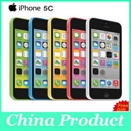 "Discount unlock iphone wifi Original Unlocked iPhone 5C Cell phones 8GB 16GB 32GB dual core WCDMA+WiFi+GPS 8MP Camera 4.0"" Mobile Phone with se"