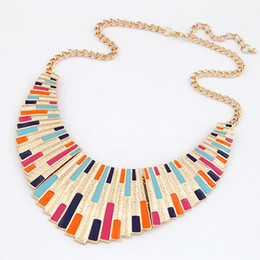 Chinese  Statement Necklace 2017 Women Necklaces & Pendants Fashion Costume jewelry Women Enamel Choker Collar bijoux collier femme manufacturers
