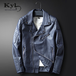Barato Casacos De Couro Coreia-Atacado- Zipper Leather Jacket Men 2017 New AutumnSpring Slim Fit Coréia Punk Coat Casual Outwear Top Casaco Moto pu jaquetas BSGD1713