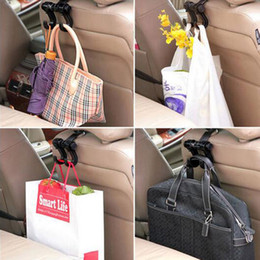 Discount car interior hooks - New Double Auto Car Back Seat Headrest Hanger Holder Hooks Clips For Bag Purse Cloth Grocery Automobile Interior Accesso