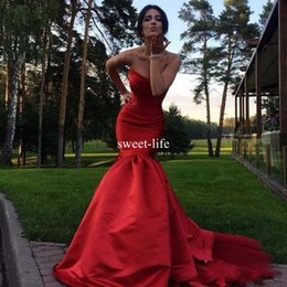 $enCountryForm.capitalKeyWord Canada - 2017 Red Mermaid Formal Evening Dresses Sexy Fitted Long Evening Dress Satin Formal Party Prom Gowns Red Carpet Dresses Dresses Evening Wear