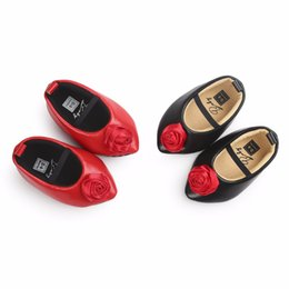 Big Flower Baby Shoes Australia - Wholesale- TongYouYuan New Pu Leather Baby Kids Solid Spring New Brand Autumn Crib Soft Prewalker Anti-skid Big Flower Babe Mary Jane Shoes