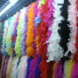 Feather Boa Decorations Canada - Chicken Feather Boas Party Decoration 200cm Feather Boas Marabou Chandelle Feather Boas White Pink Green Yellow Orange Blue Many Colors