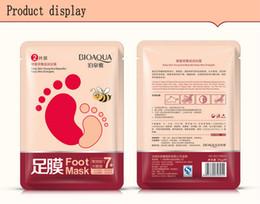 $enCountryForm.capitalKeyWord NZ - retail 10pcs BIOAQUA feet mask Milk and Bamboo Vinegar foot Mask skin Peeling Exfoliating regimen for Feet care Honey nourishing
