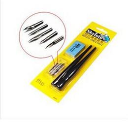 Manga Pen Set Australia - Wholesale Free Shipping 5pcs Drawing Pen Nib 2 Pens Elaser Set Manga Comic Tools for Art Painting