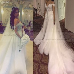 $enCountryForm.capitalKeyWord Canada - 2018 Saudi arabic mermaid wedding dresses plus size Country overskirt detachable train 3D lace appliques court train wedding bridal gown
