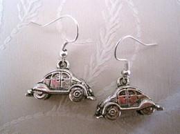 Discount car chandelier - Earring , * 3D VOLKSWAGEN BEETLE CAR* Antique silver Earrings Fishhook Ear 30x23.5mm (za53)
