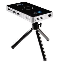 Proyector Wifi Australia - C6 Mini Projector Android Amlogic S905 Quad Core 2GB 16GB ROM 5G Wifi Smart DLP Proyector Full HD Bluetooth MAX Portable TV BOX
