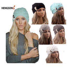 $enCountryForm.capitalKeyWord Canada - Wholesale- Women Knitting Hat Winter Hats for Women Genuine Hat Handmade Knitted Warm Hat Female High Elastic Caps Beanies Headgear Autumn