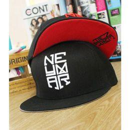 Atacado-2015 Neymar carta de bordado hiphop boné de beisebol marca de moda snapback patins chapéu gorras casuais chapeu para as mulheres homens em Promoção