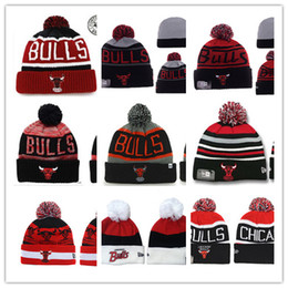 Barato Boné De Beisebol-Winter Basketball Bull pom Beanies With Fleece Futebol Beanies Last Kings cap Ternado Skull Beanies Caps TODAS as equipes Football baseball Beanie