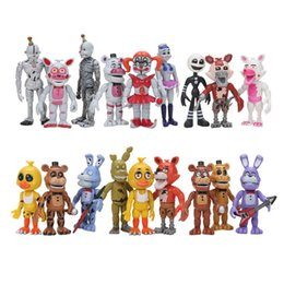 Chinese  2017 18pcs  Set Fnaf Five Nights At Freddy ' ;S Funtime Baby Pizza World Ballora Foxy Freddy Bear Ennard Springtrap Action Figures Toys manufacturers