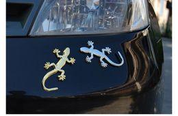 $enCountryForm.capitalKeyWord Canada - 3D Emblem Lizard Sticker Metal Gecko Car Stickers Solid Metal Alloy House lizard Gecko Car Stickers 500pcs with retail packing